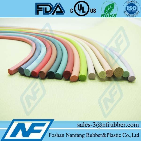 3-7mm diameter Colorful EPDM foam cords