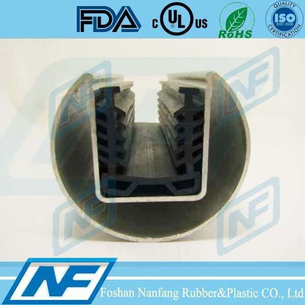rubber seal for window glass slot