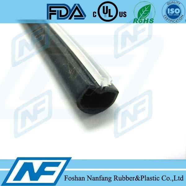 Co-extrusion chamfer door frame window rubber seals