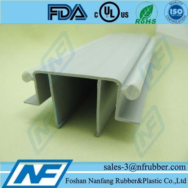 PVC rigid and flexible plastic weather strip for door sealing