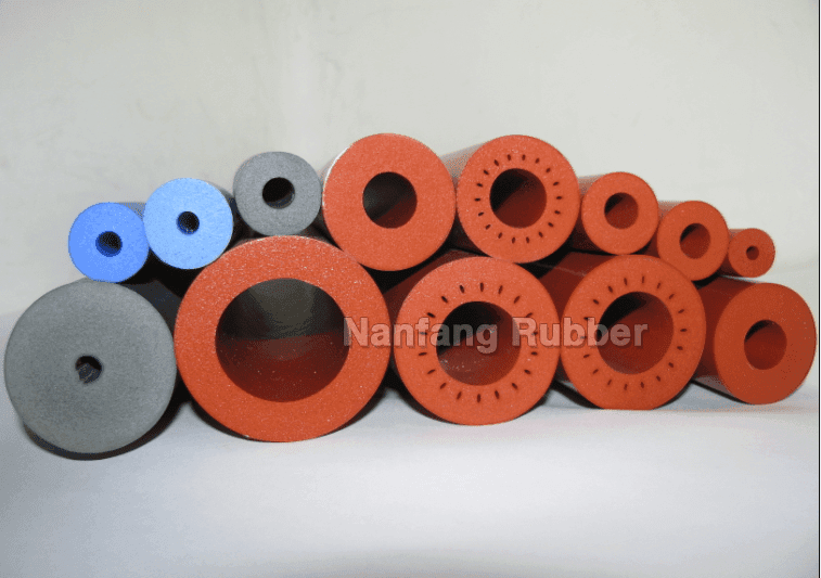 closed cell foam tube silicone fuser roller