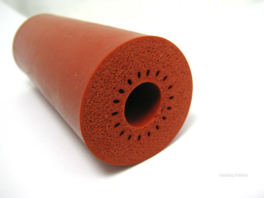 silicone material rubber foam insulation tube