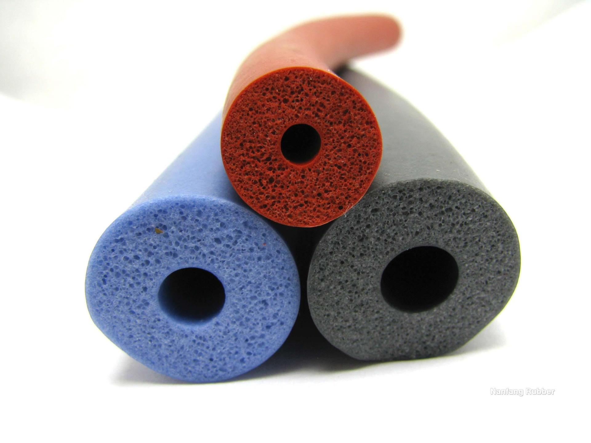 0.5 density soft silicone foam rubber tube