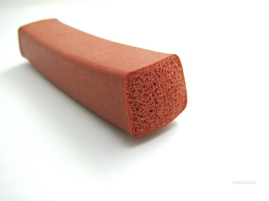 high density rubber foam silicone foam profile
