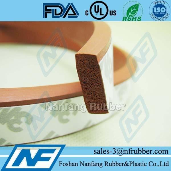 Silicone sponge l shaped rubber trim for machine